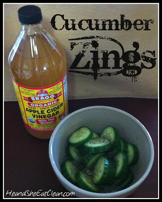 Clean Eat Recipe: Cucumber Zings | He and She Eat Clean
