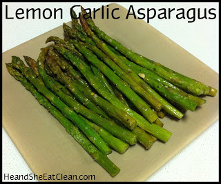 Lemon Garlic Asparagus | He and She Eat Clean