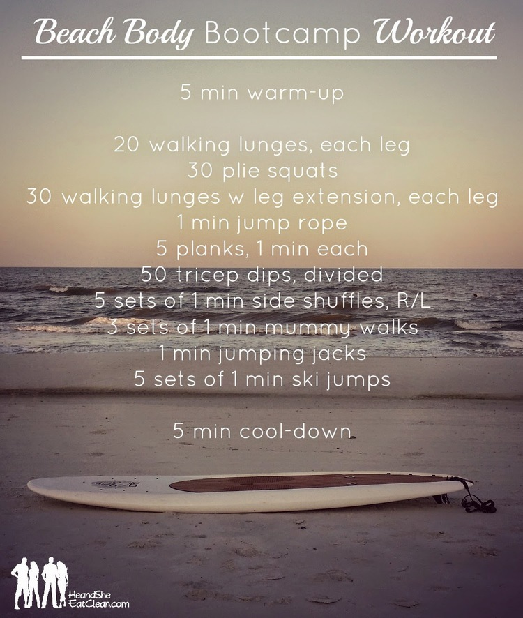 Beach Body Bootcamp Workout He And She Eat Clean