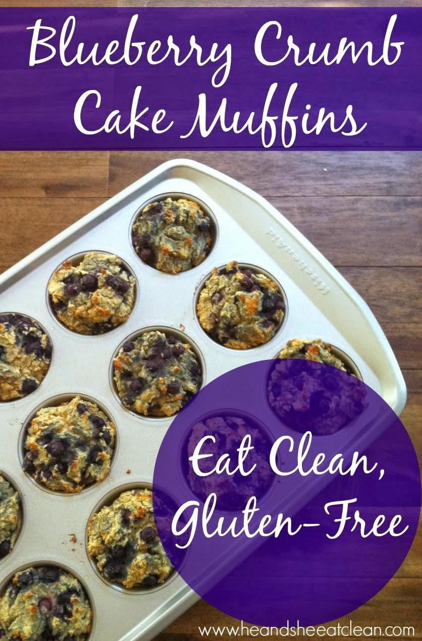 Blueberry Crumb Cake Muffins | He and She Eat Clean