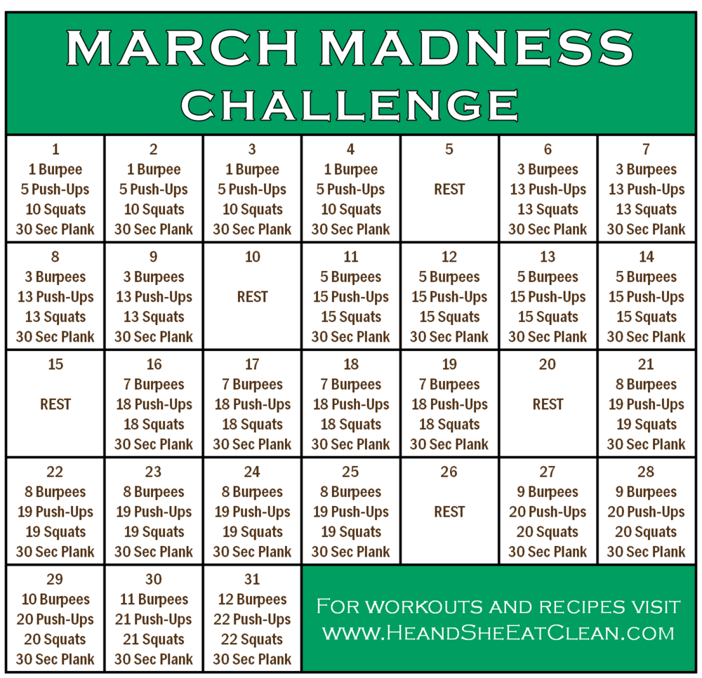 Full Body Workout: March Madness Fitness Challenge | He and She Eat Clean