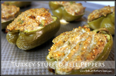 Clean Eat Recipe: Turkey Stuffed Bell Peppers | He and She Eat Clean