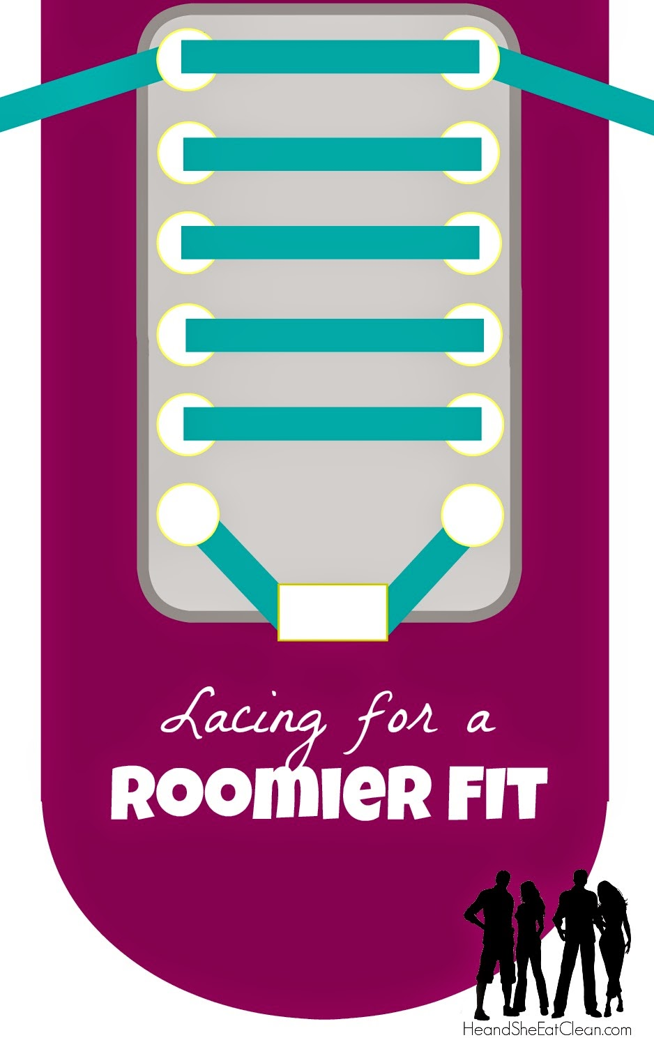 Lacing Your Running Shoes for Fit and Function - Roomier Fit | He and She Eat Clean