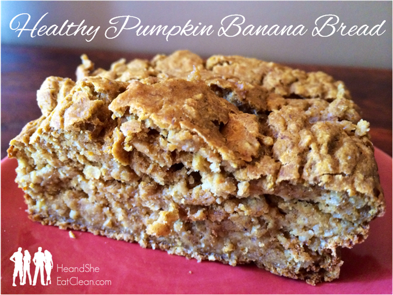 Clean Eat Recipe : Healthy Pumpkin Banana Bread | He and She Eat Clean