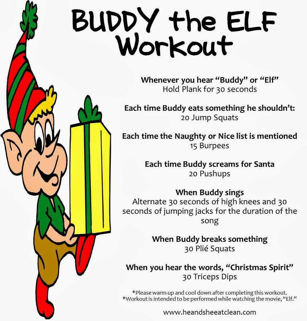buddy the elf workout u2014 he u0026 she eat clean healthy recipes