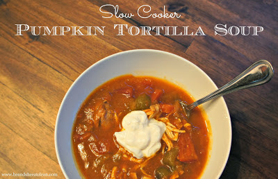 Clean Eat Recipe :: Pumpkin Tortilla Slow Cooker Soup | He and She Eat Clean