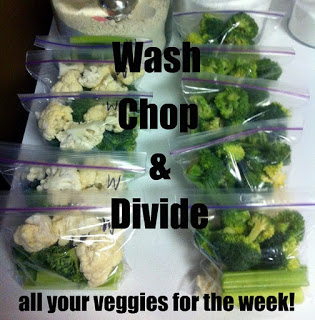Wash, chop, and divide your veggies for the week! | He and She Eat Clean