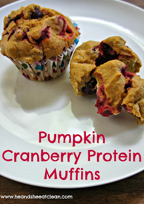 Clean Eat Recipe: Pumpkin Cranberry Protein Muffins | He and She Eat Clean