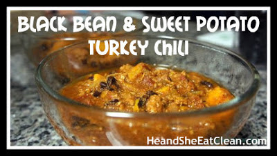 Clean Eat Recipe :: Crock Pot Black Bean and Sweet Potato Turkey Chili
