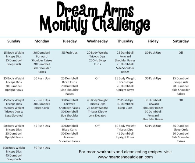 Monthly Fitness Challenge: Dream Arms Challenge | He and She Eat Clean