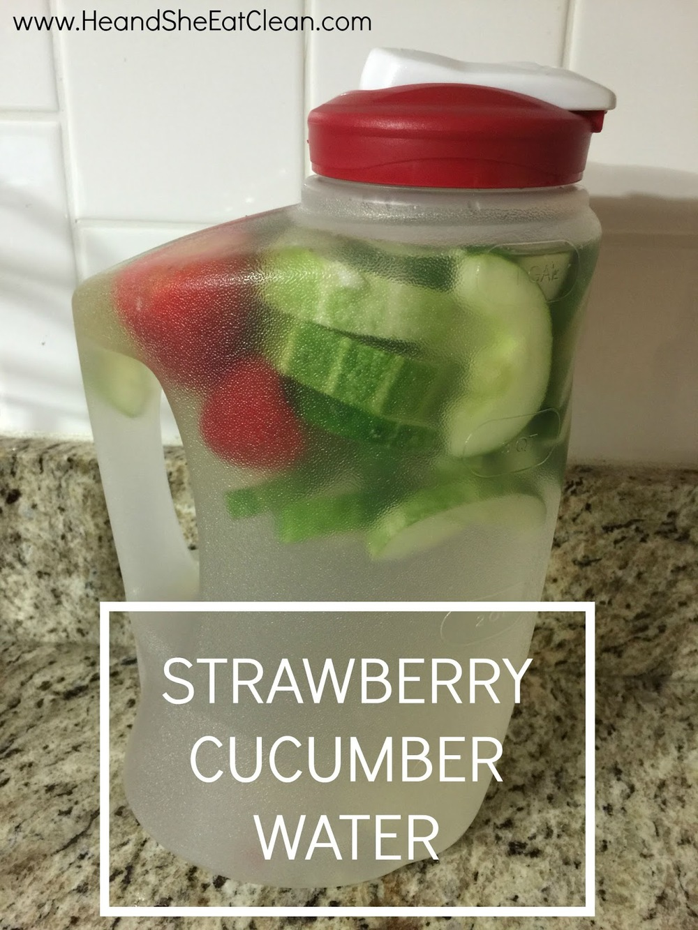 Strawberry Cucumber Flavored Water