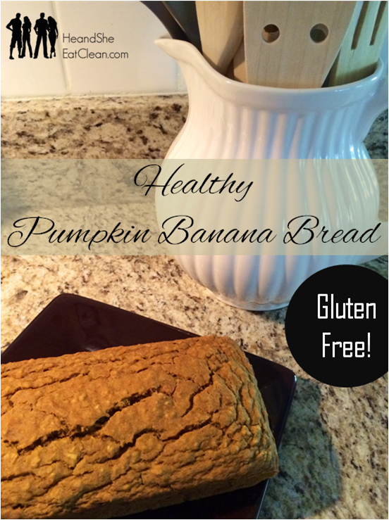 Healthy Pumpkin Banana Bread | He and She Eat Clean