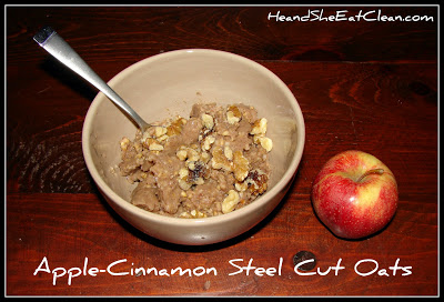 Apple-Cinnamon Steel Cut Oats | He and She Eat Clean