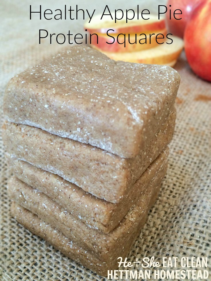 Clean Eat Recipe: Apple Pie Protein Squares | He and She Eat Clean | Hettman Homestead