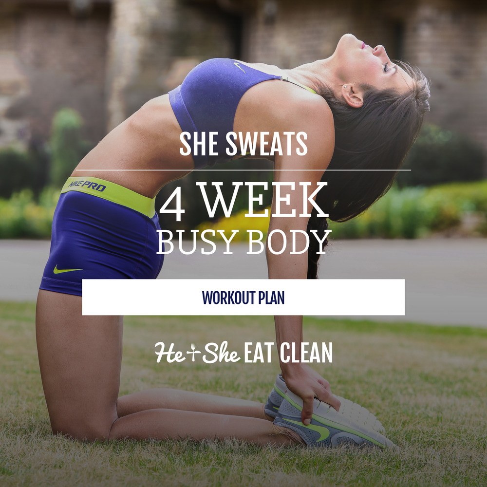 Busy Body 4-Week Workout Plan