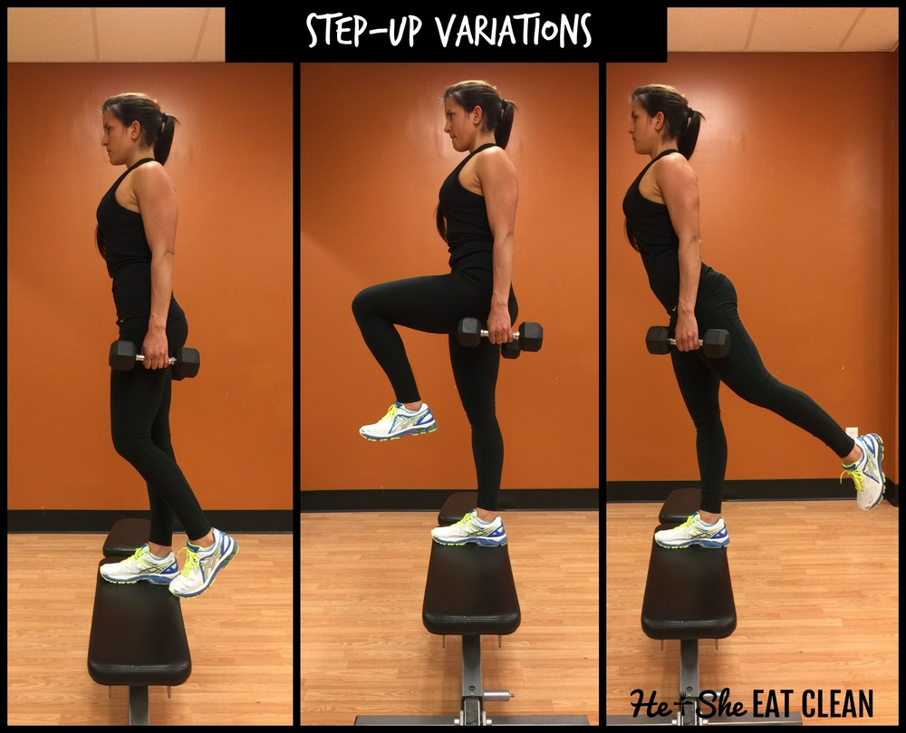 Leg Exercise - Step-Ups | He and She Eat Clean