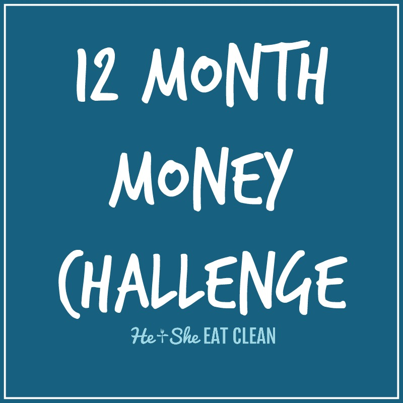12 Month Money Challenge | He and She Eat Clean