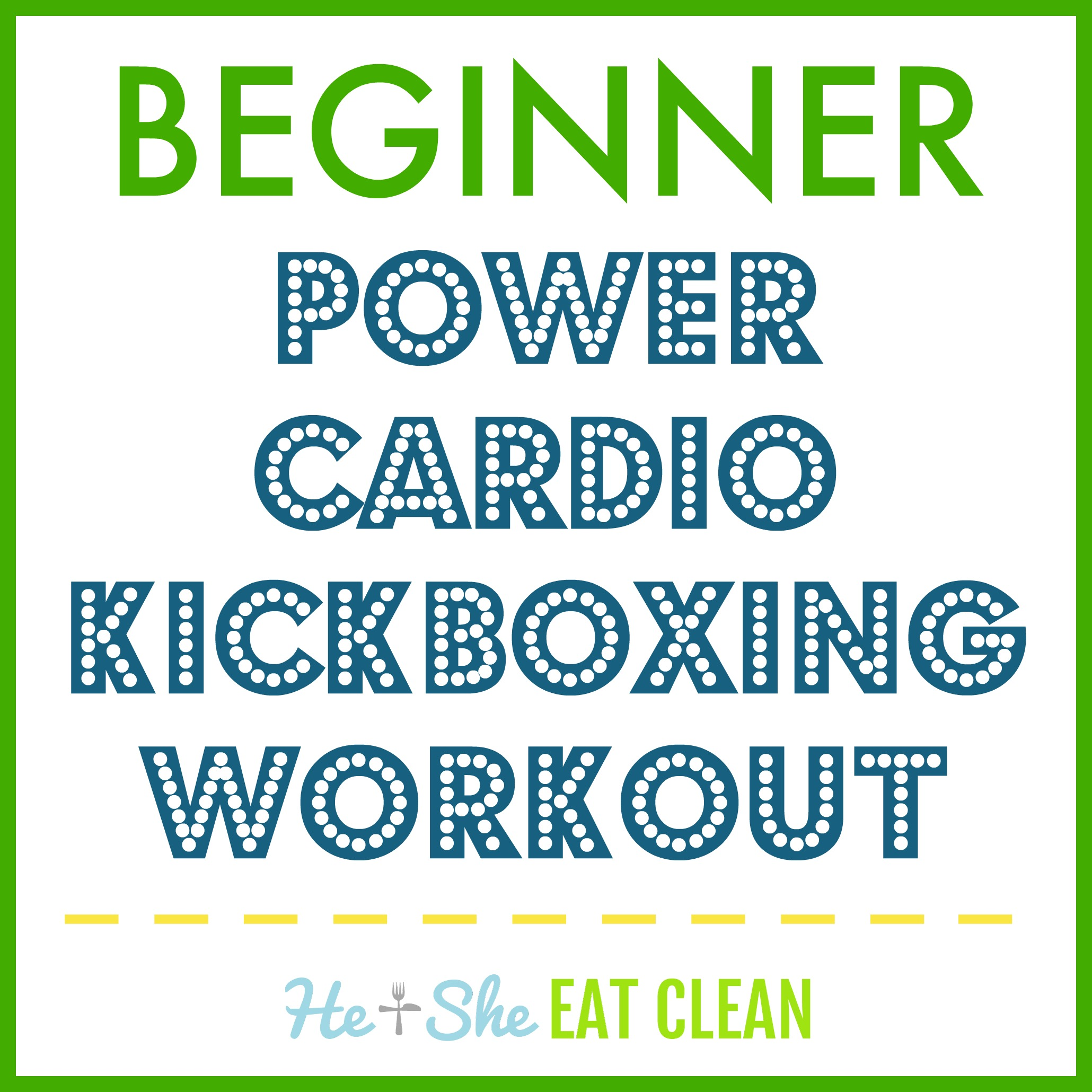 Beginner Power Cardio Kickboxing Workout