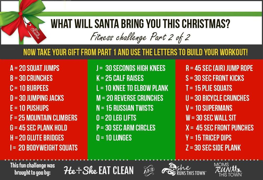 Fun Christmas Fitness Challenge | He and She Eat Clean