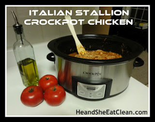 Italian Stallion Crock Pot Chicken | He and She Eat Clean