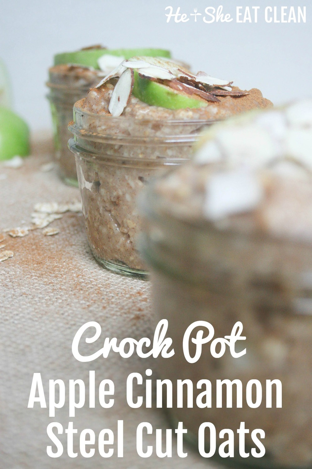 Crock Pot Apple Cinnamon Steel Cut Oats | He and She Eat Clean