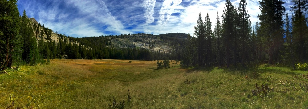Half Moon Meadow is an excellent place to rest and refuel before you head up the pass.
