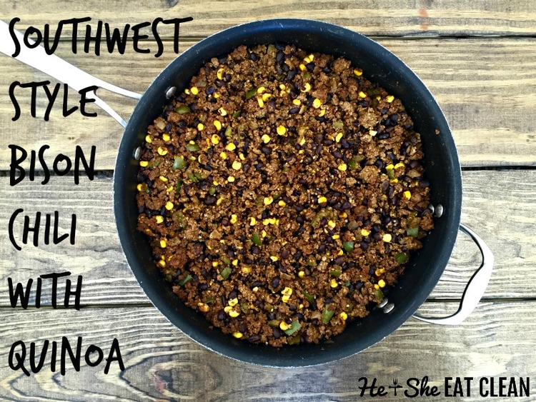 Southwest Style Bison Chili with Quinoa He  She Eat Clean