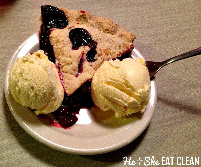 Huckleberry Pie from Luna's Restaurant outside of Glacier National Park | He and She Eat Clean