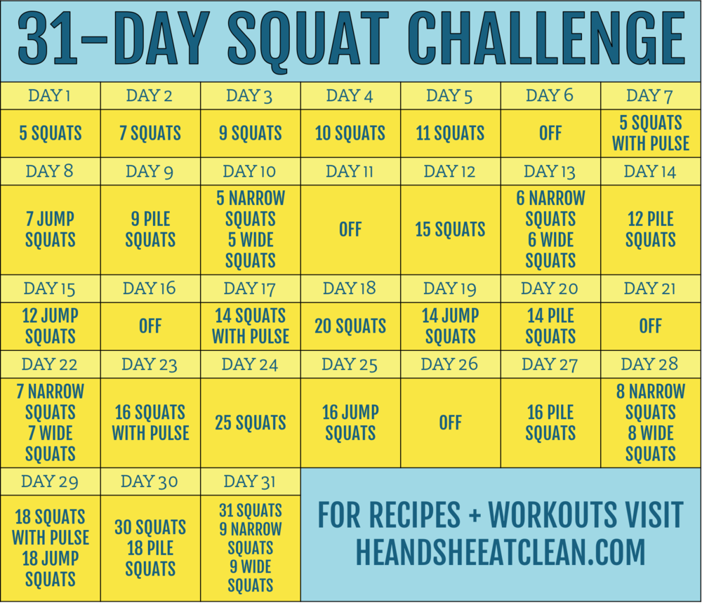 31-Day Squat Challenge — He & She Eat Clean