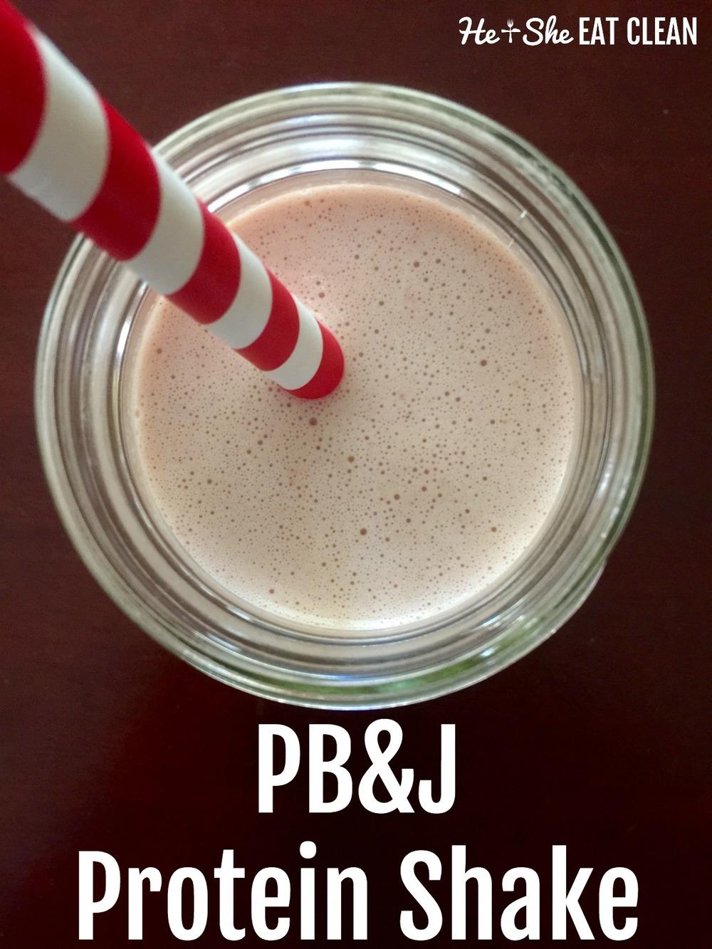 Clean Eat Recipe: PB&J Protein Shake