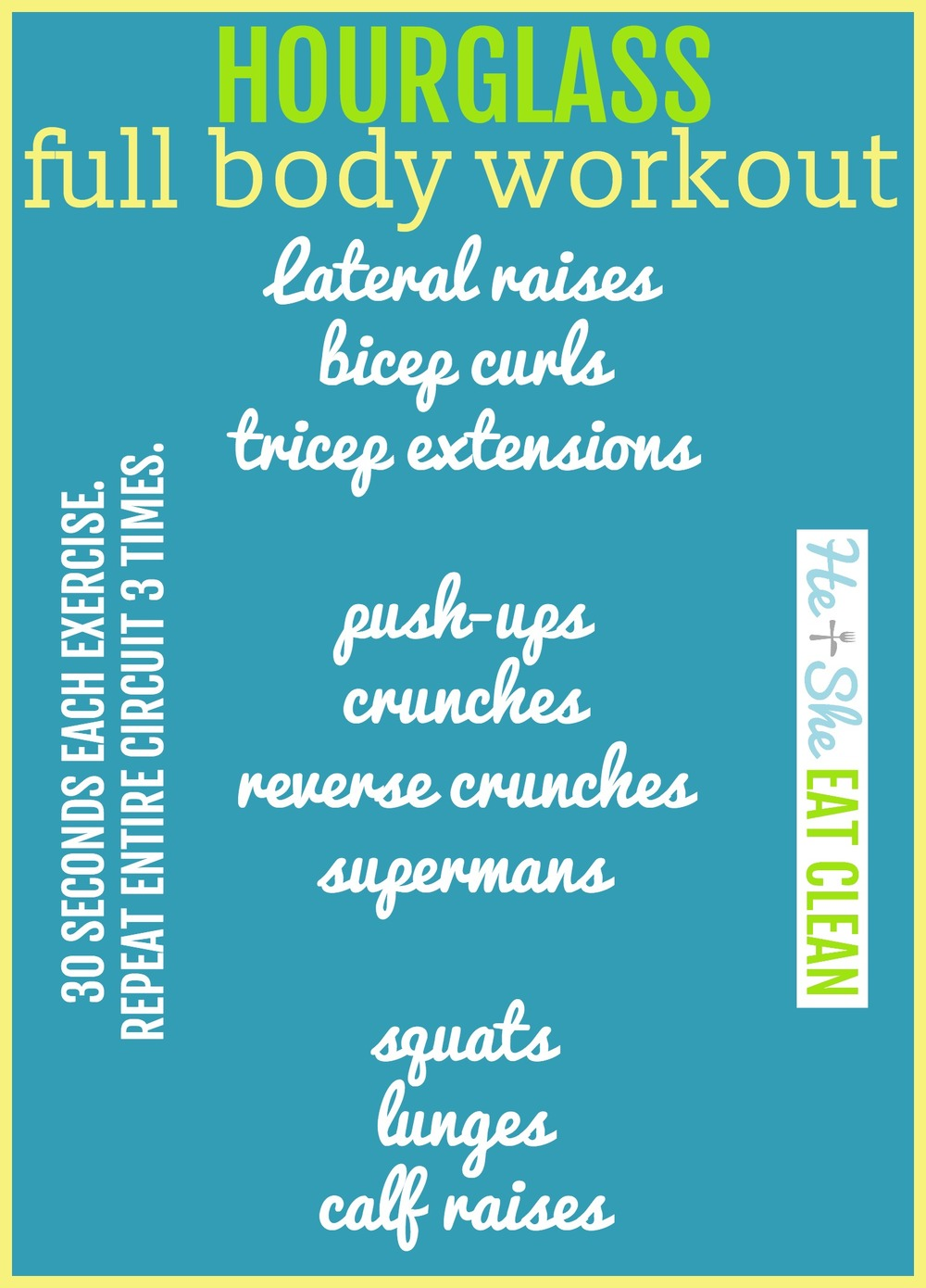 Hourglass Full Body Workout | He and She Eat Clean