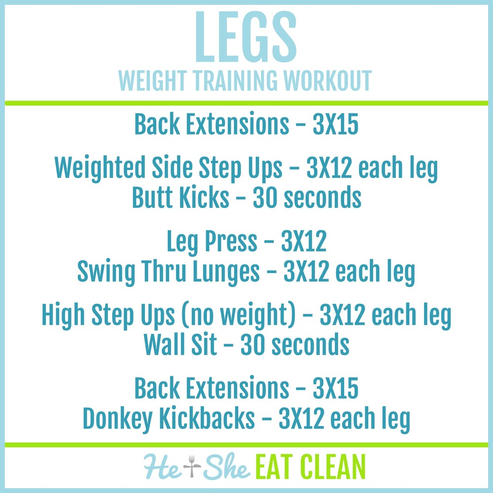 Legs - Weight Training Workout | He and She Eat Clean