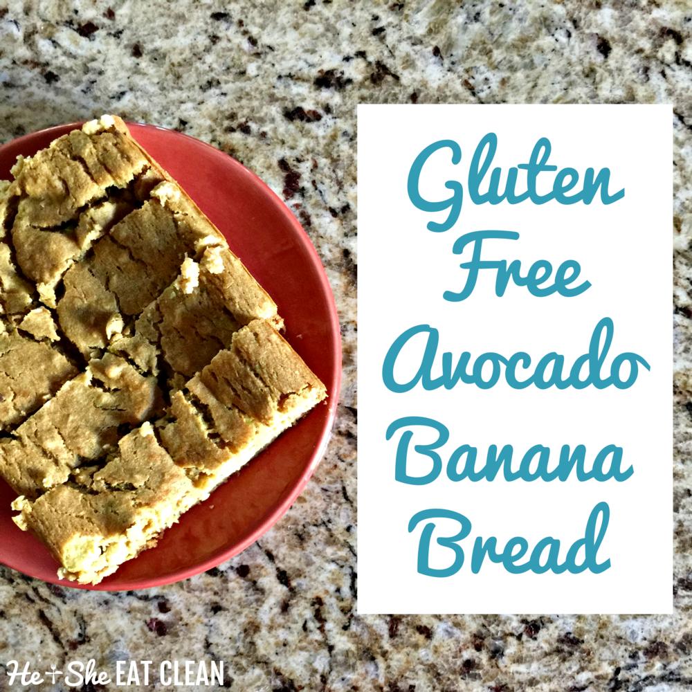 Clean Eat Recipe: Gluten Free Avocado Banana Bread | He and She Eat Clean