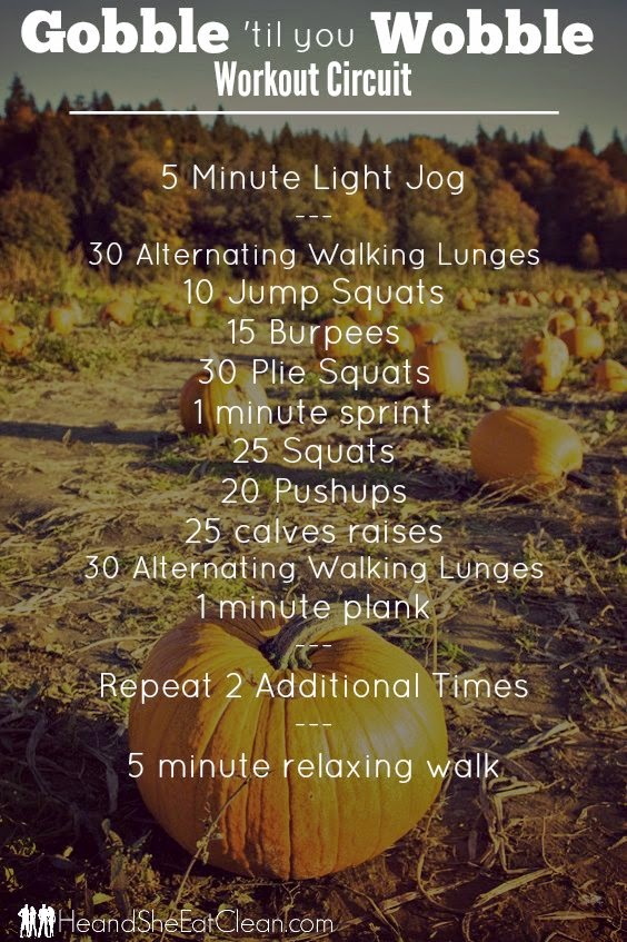 Gobble 'Til You Wobble Workout Circuit | He and She Eat Clean
