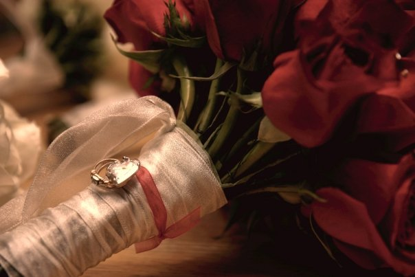 Christmas Wedding Bouquet with Locket and Rings | He and She Eat Clean