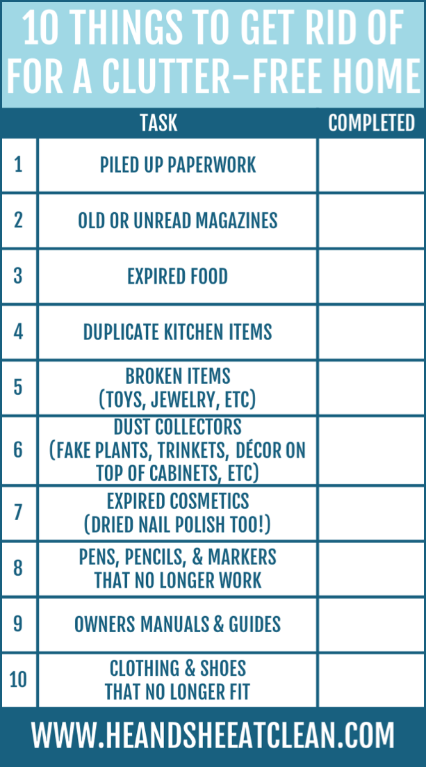 10 Things to Get Rid of for a Clutter-Free Home | He and She Eat Clean