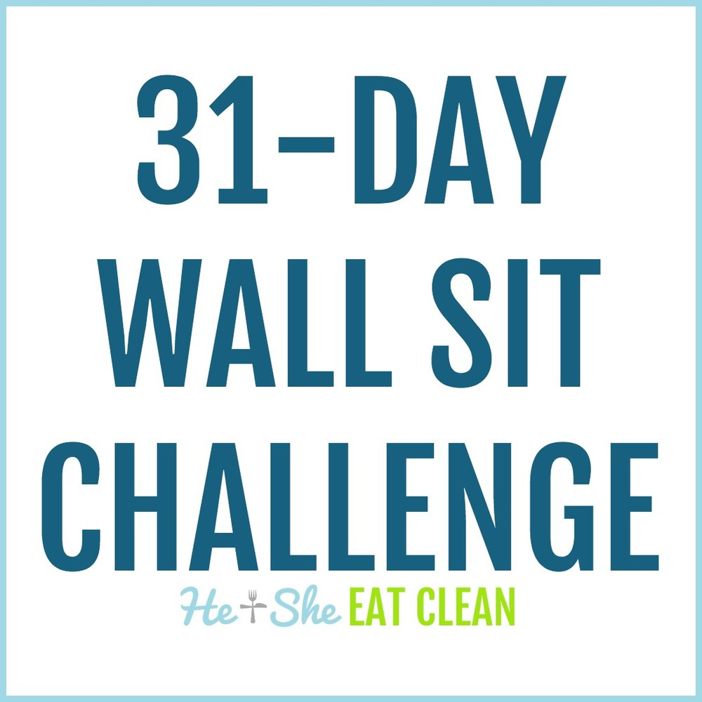 31-Day Wall Sit Challenge | He and She Eat Clean