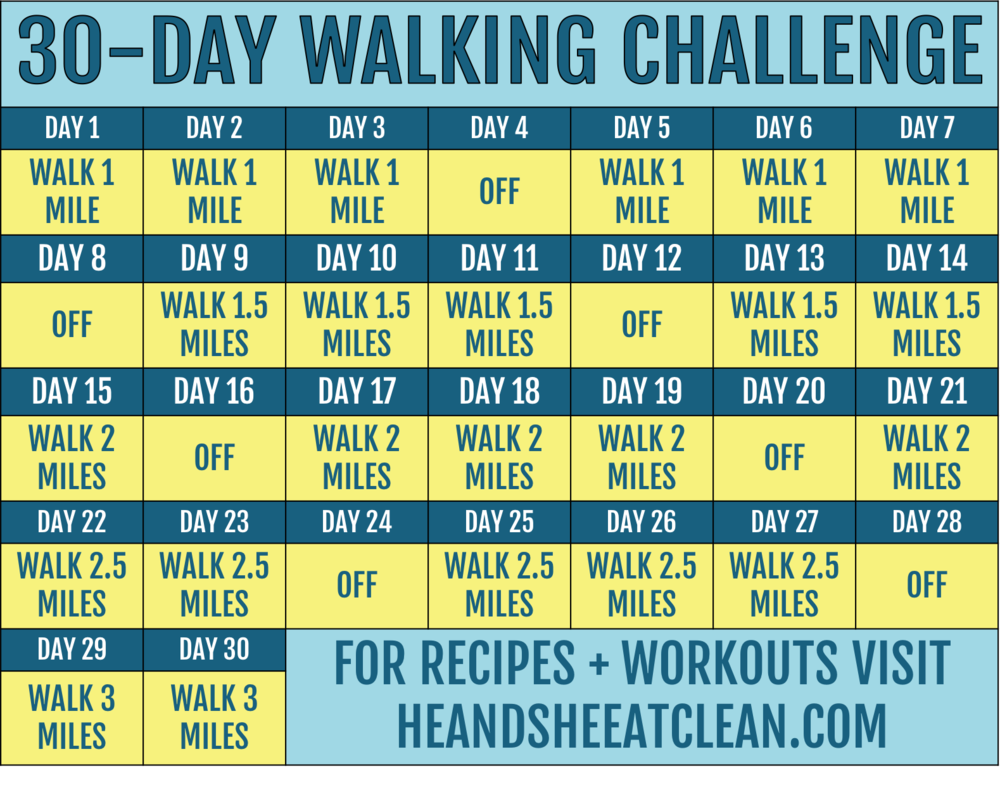 30-Day Walking Challenge | He and She Eat Clean