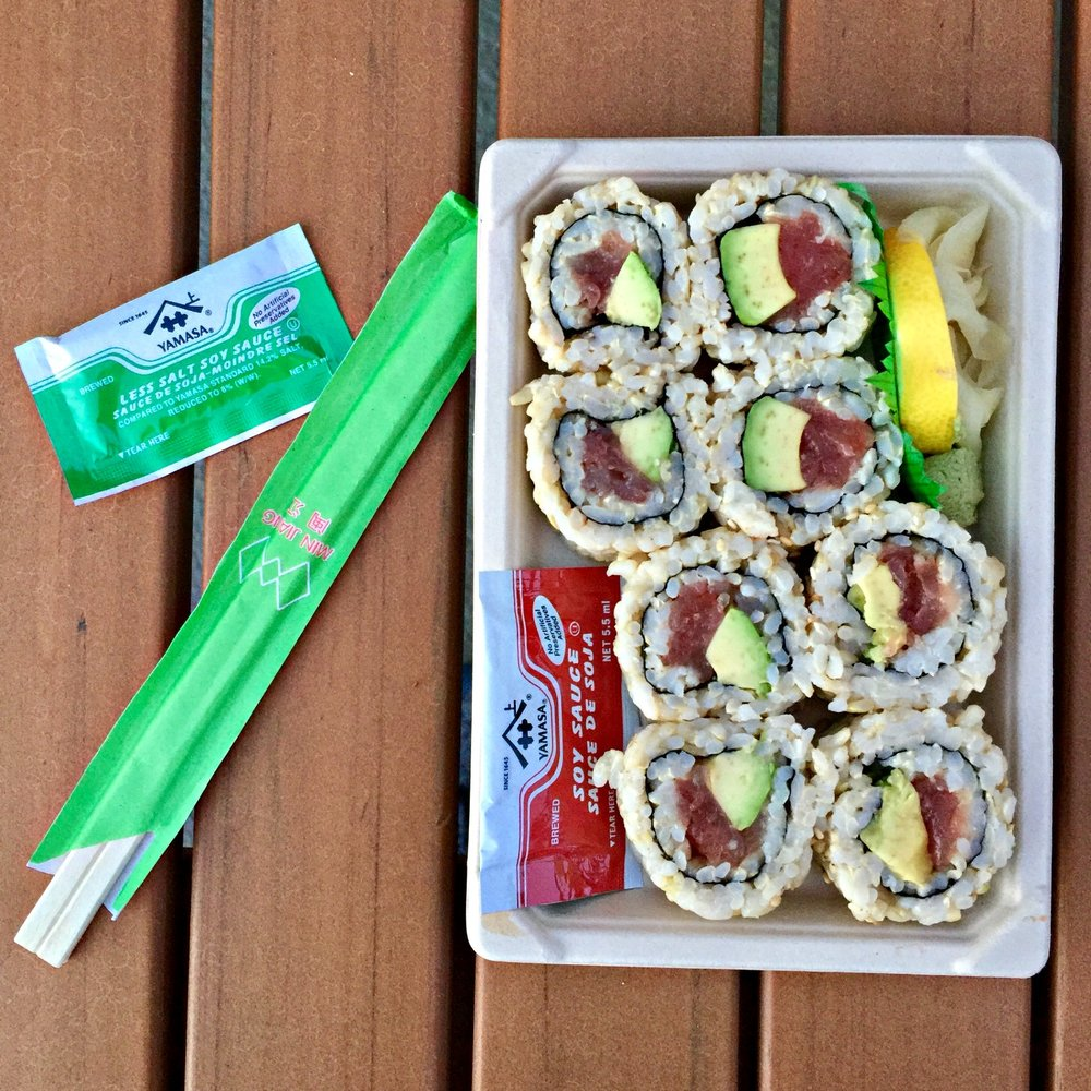 Whole Foods Brown Rice Avocado Sushi