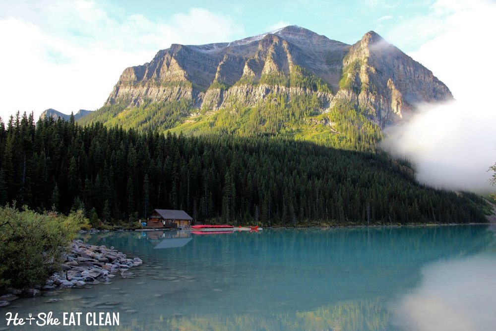 Hiking in Banff National Park, Canada - Lake Louise