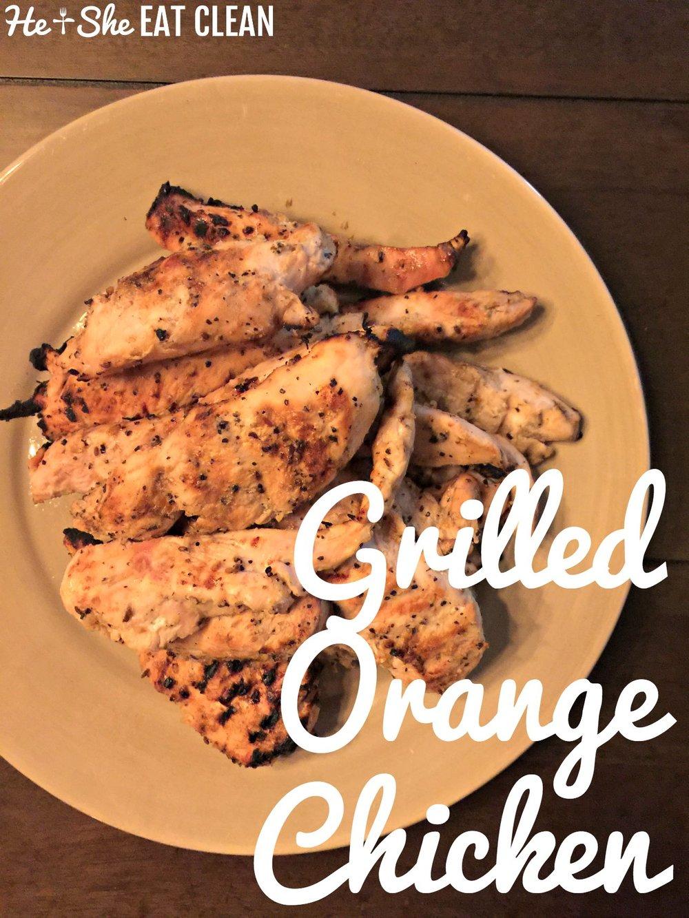 Clean Eat Recipe: Grilled Orange Chicken