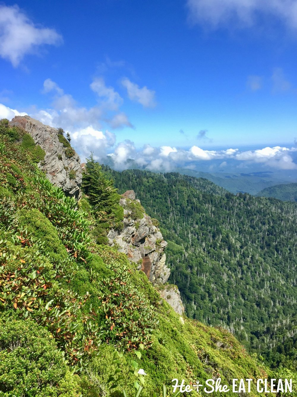 Hiking Charlies Bunion in Great Smoky Mountains National Park