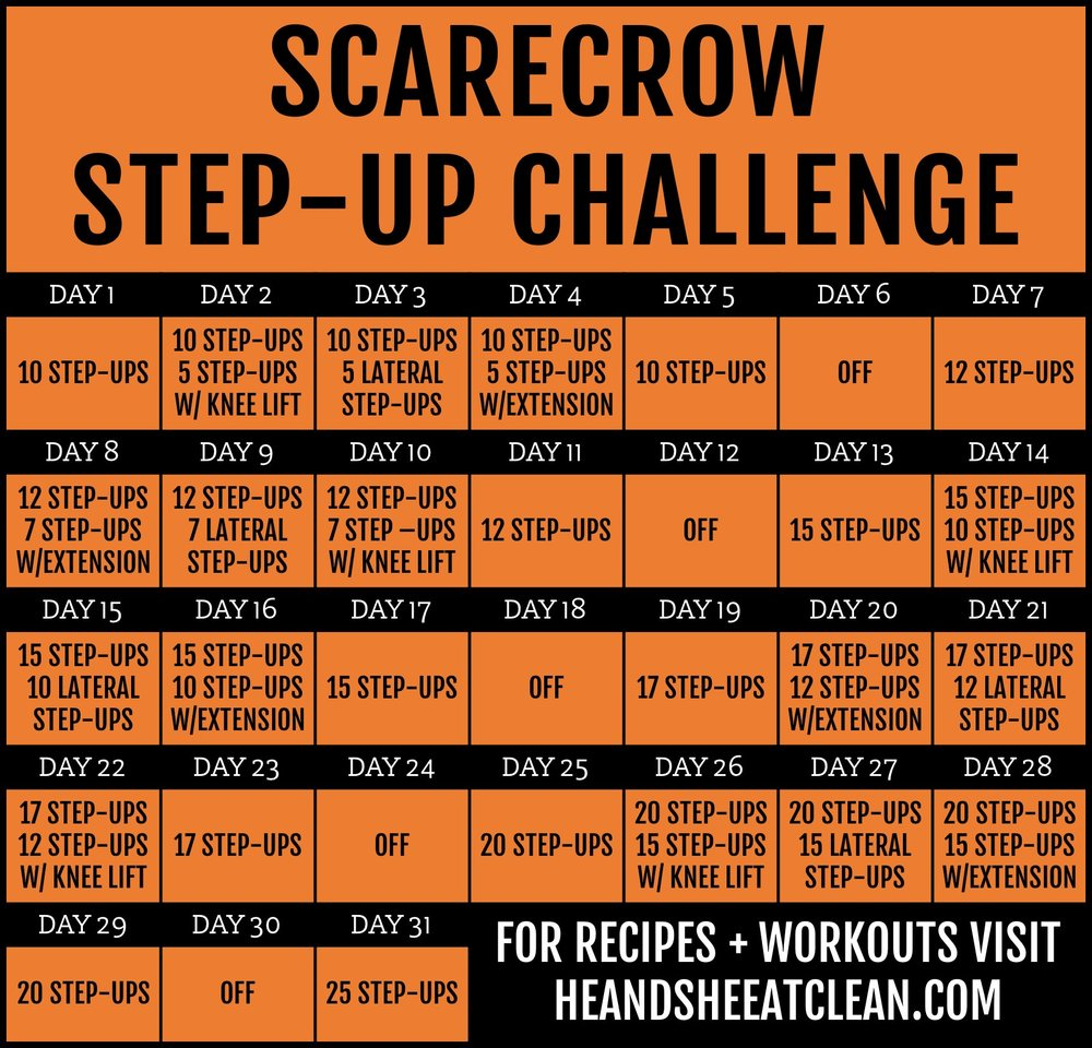 Scarecrow Step-Up Fitness Challenge