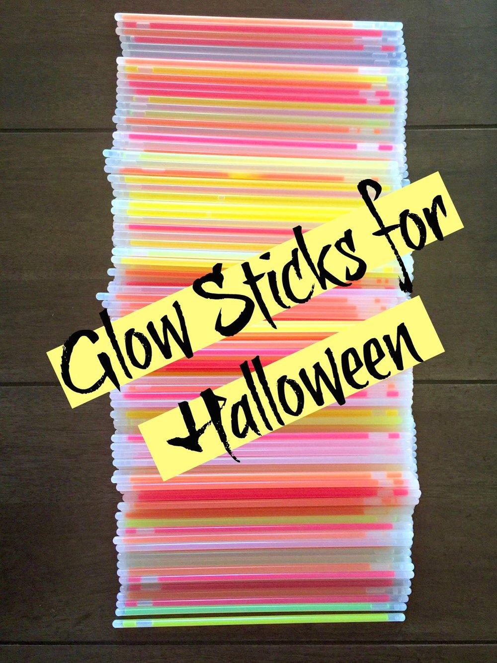 Glow sticks for Halloween