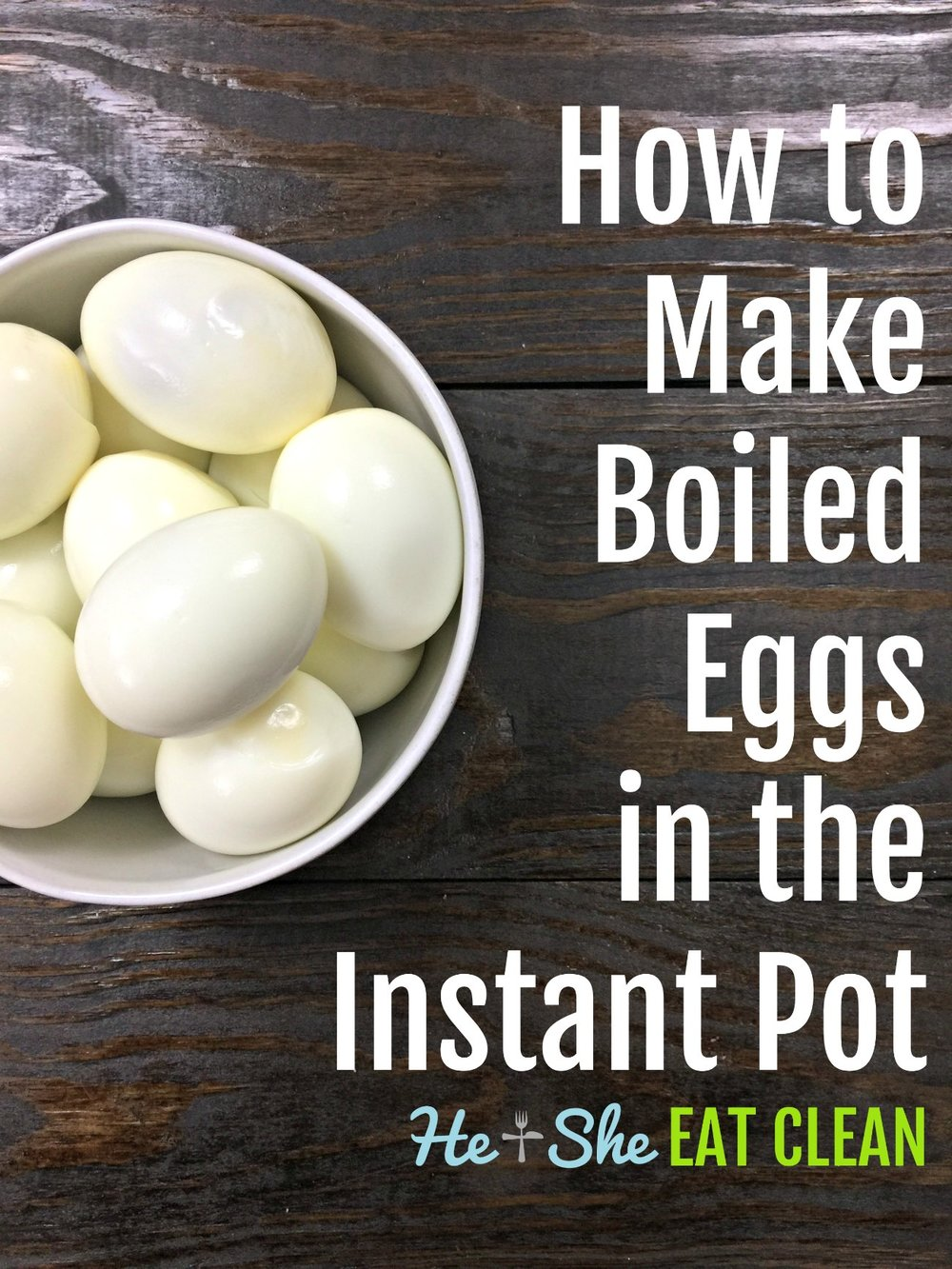 How to Make Boiled Eggs in the Instant Pot
