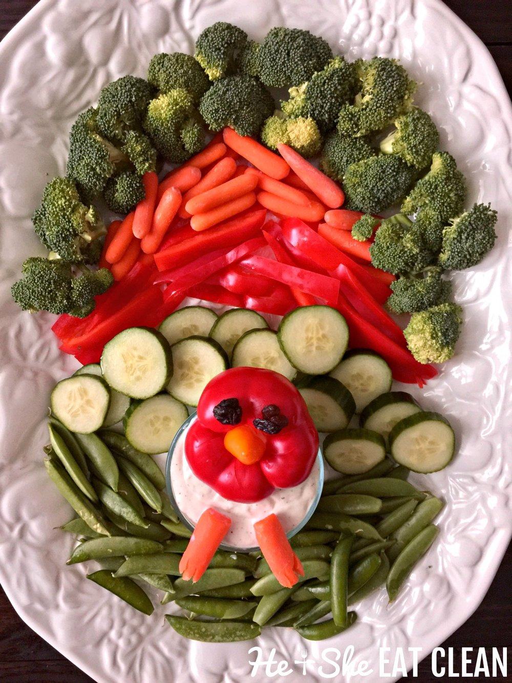 Thanksgiving Turkey Vegetable Tray