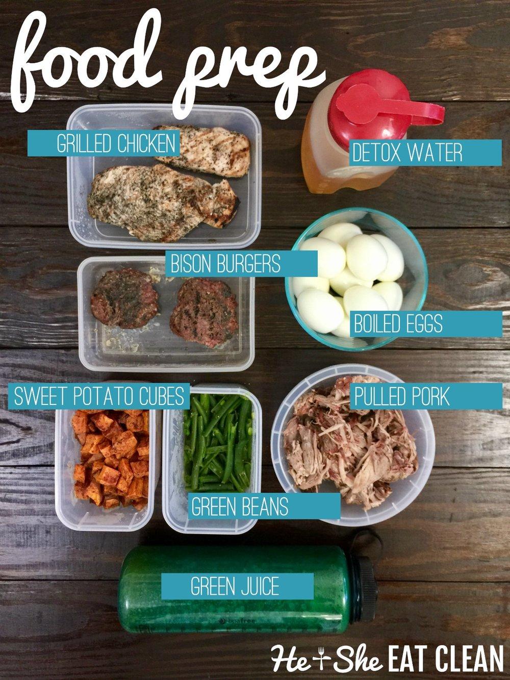 Clean Eating Food Prep for the Week
