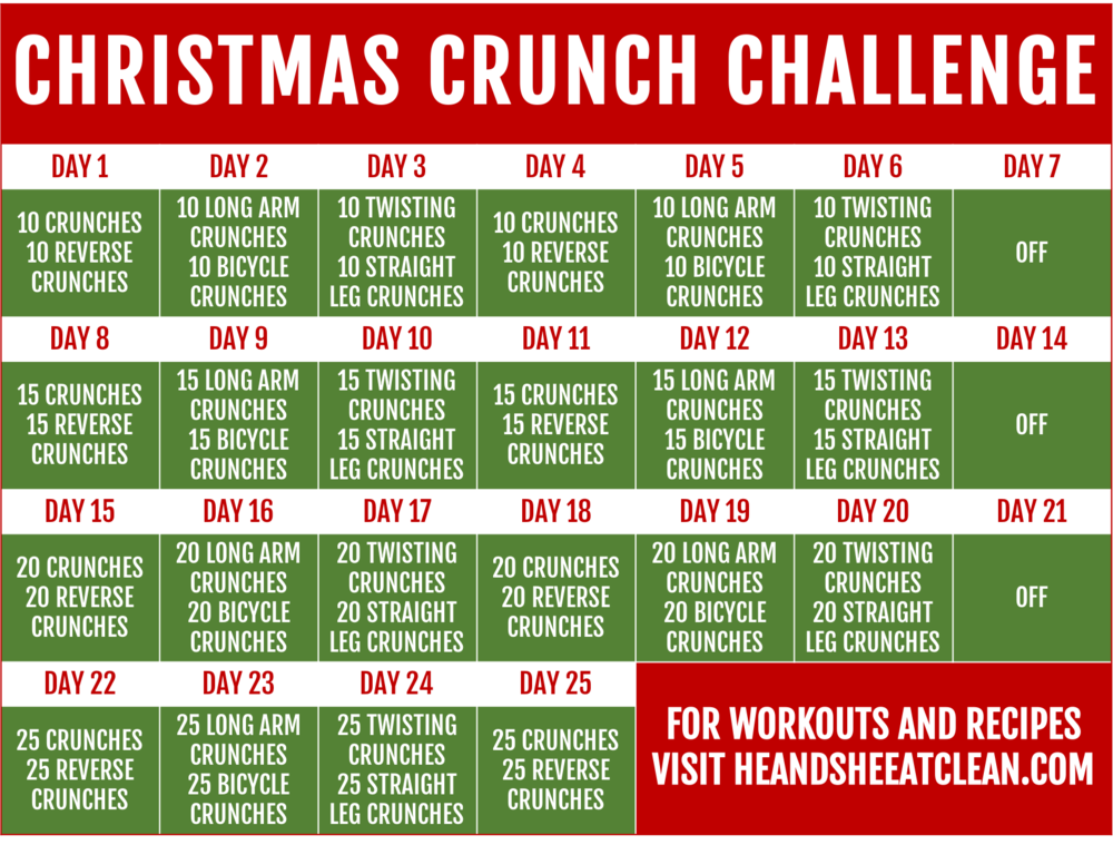 Christmas Crunch Workout Challenge