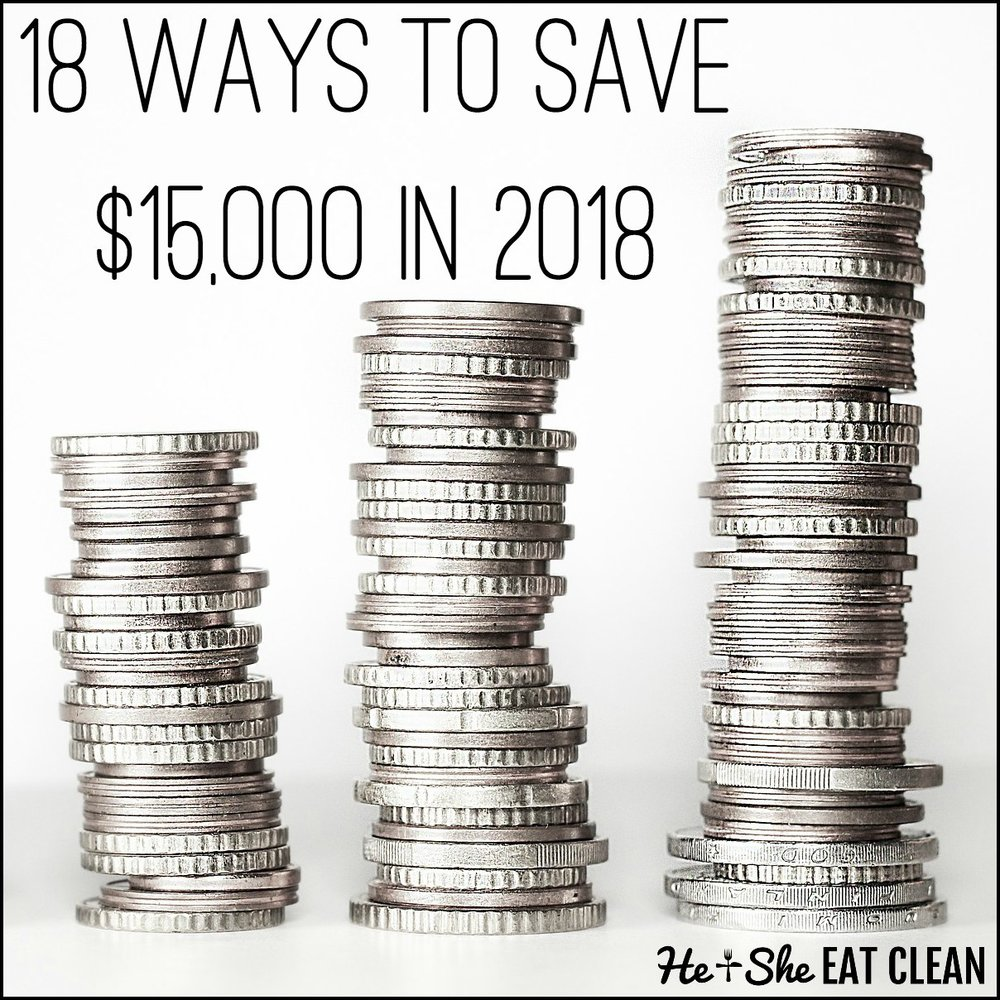 18 Ways to Save $15,000 in 2018