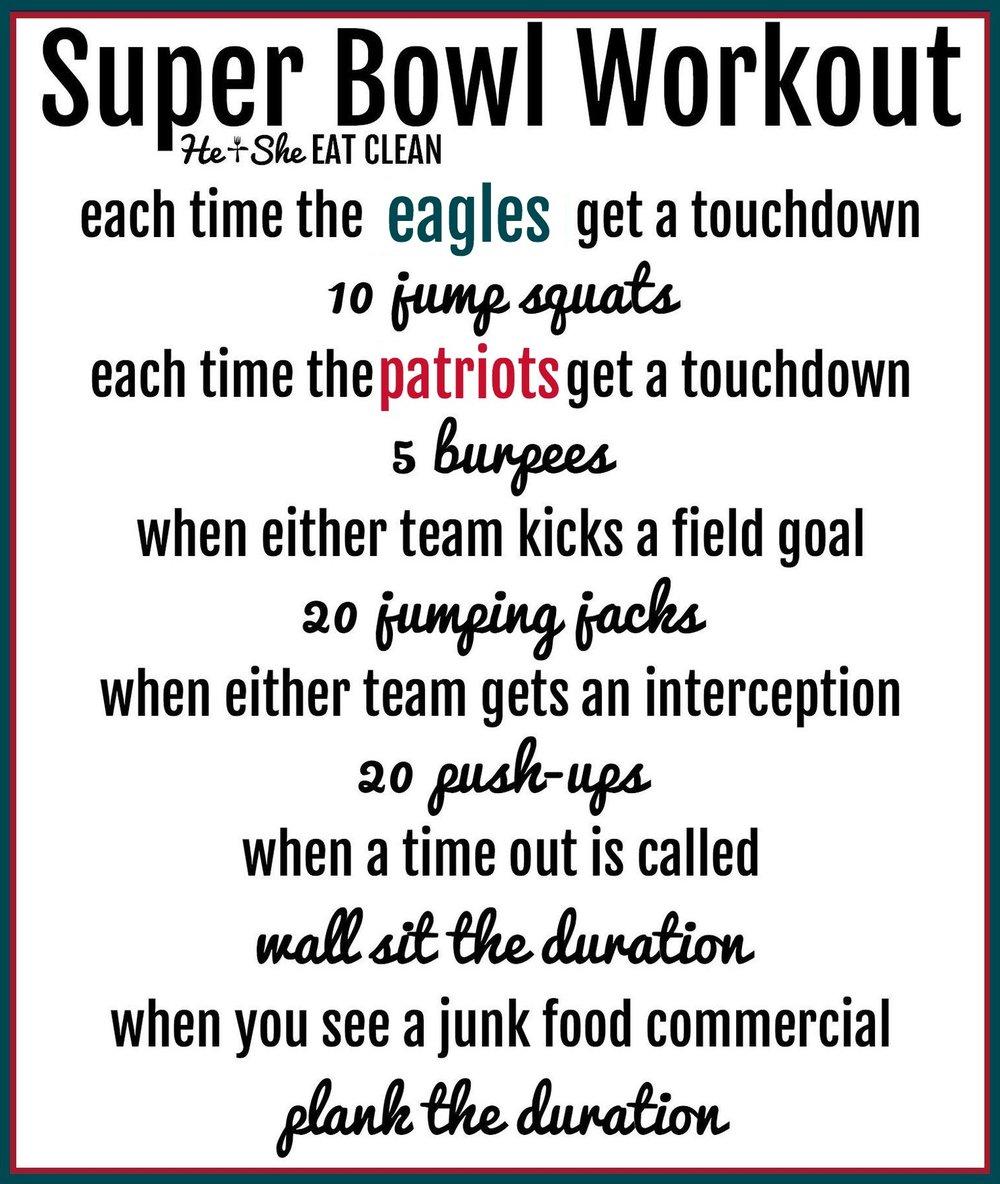Super Bowl Workout 2018: Patriots vs Eagles